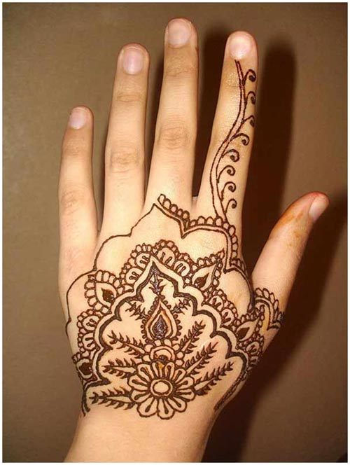 mehndi design for back hands