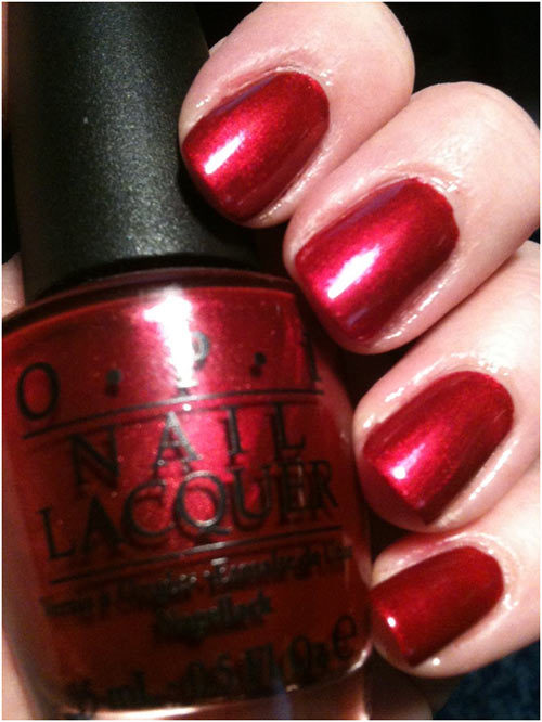 opi i ' m not really waitress swatch