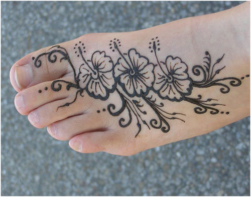 simple mehndi designs for feet