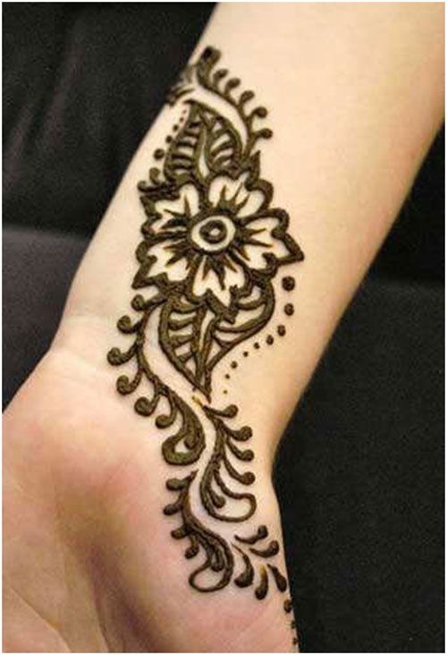 Simple Arabic Flower Mehndi Designs : Mehndi designs simple and easy for hands arabic to draw