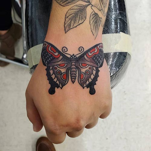 Amazing Butterfly Tattoo On Hand