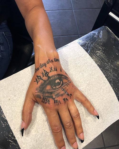 Artsy Tattoo On Hand