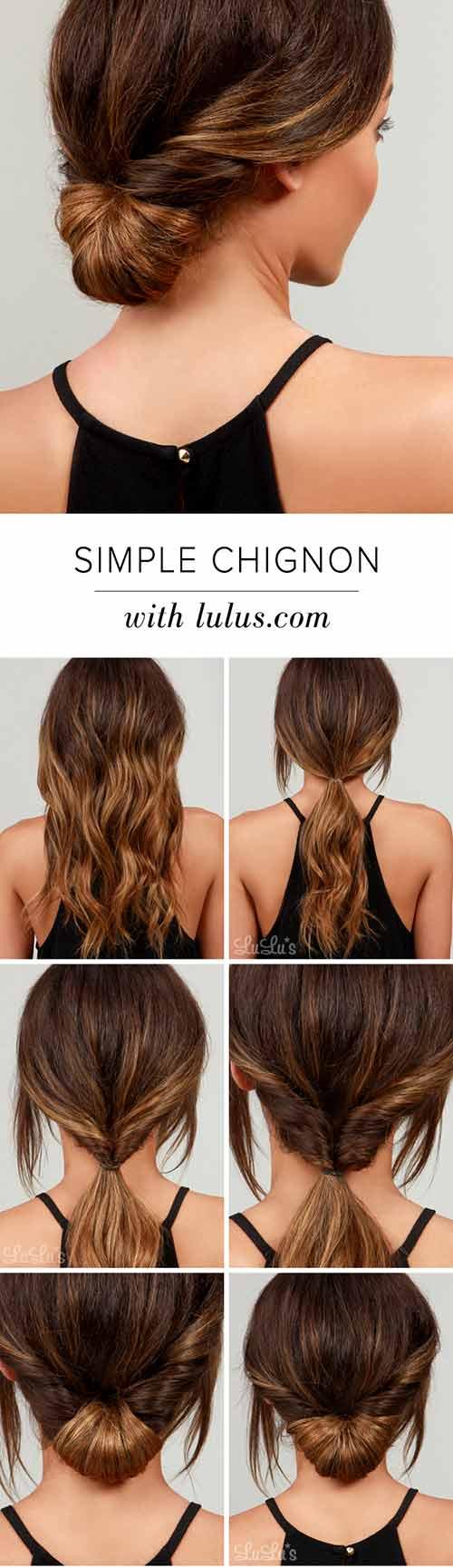 17. Simple Chignon