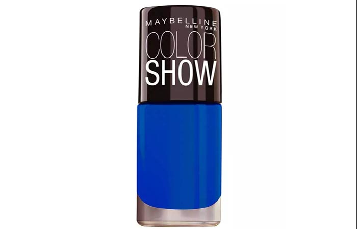 Best Nail Polish For Dark Skin - 2. Maybelline Color Show Bright Sparks, Blazing Blue