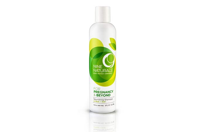 Skin Care Products For Pregnant Women - Nine Naturals Citrus Mint Nourishing Shampoo