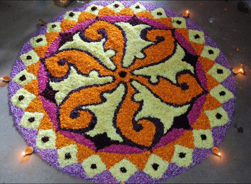 23 Most Colorful Rangoli Designs With Flowers To Try In 2019