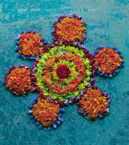25 Most Colourful Rangoli Designs With Flowers To Try In 2019