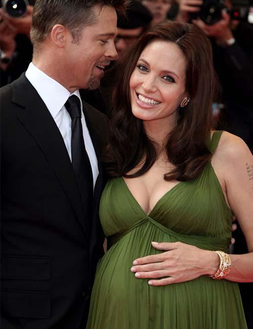 Pregnant Celebrities - Angelina Jolie