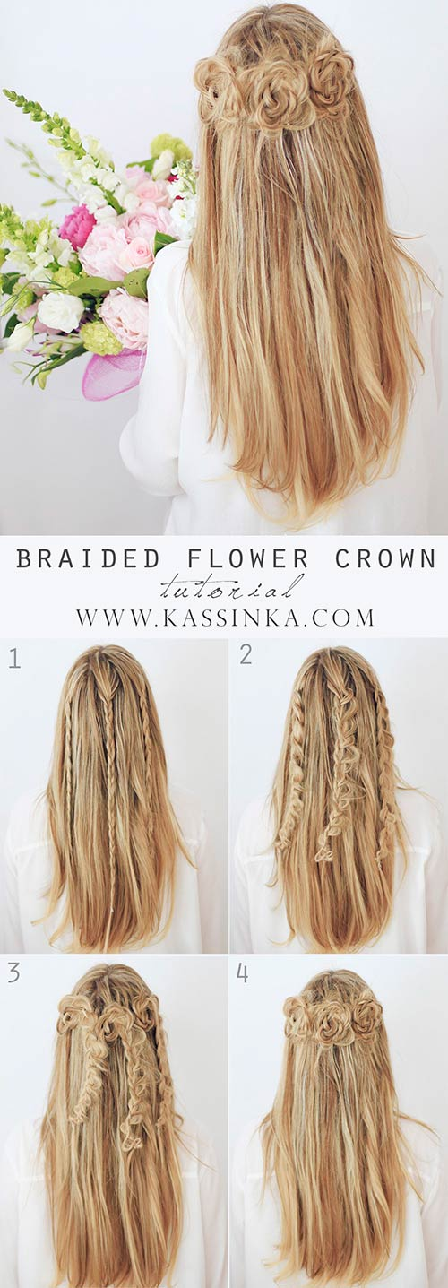 3. Braided Flower Crown