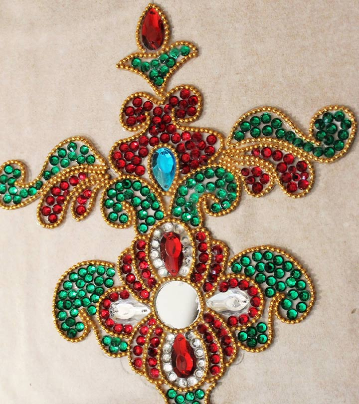 Top 40 Kundan Rangoli Designs To Try In 40 Impressive Decorative Rangoli Designs With Stones And Kundans