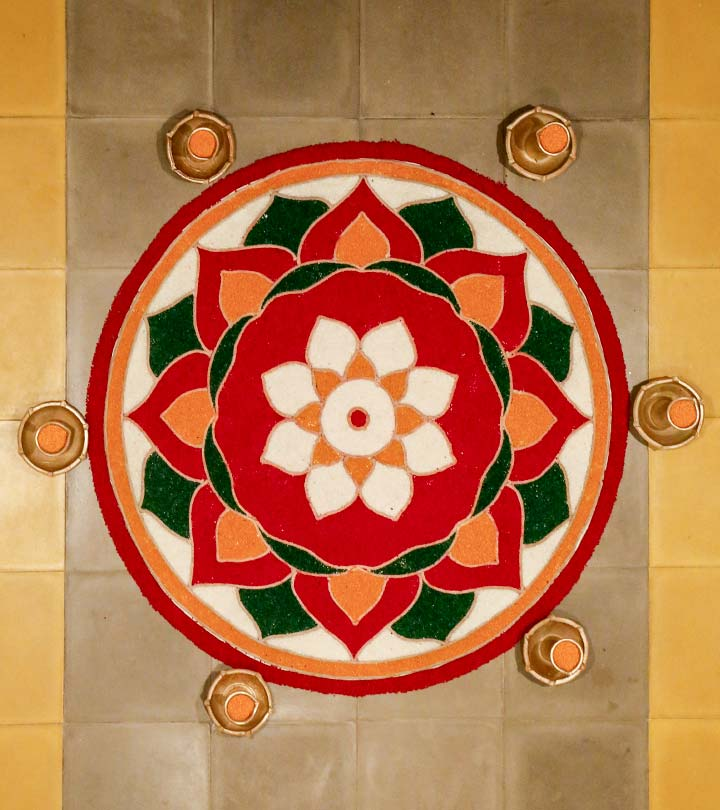 10 Amazing Rangoli Designs Without Dots