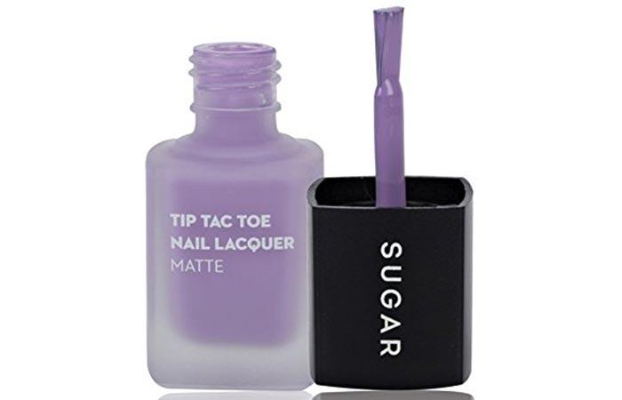 SUGAR Tip Tac Toe Nail Lacquer, 030 Purple Passion (Matte Pastel Lavender)