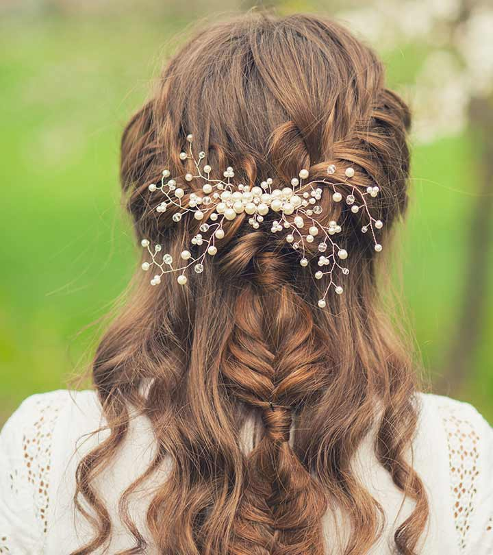 Hairstyles For Girls In Wedding: 50 Simple Bridal Hairstyles For Curly Hair