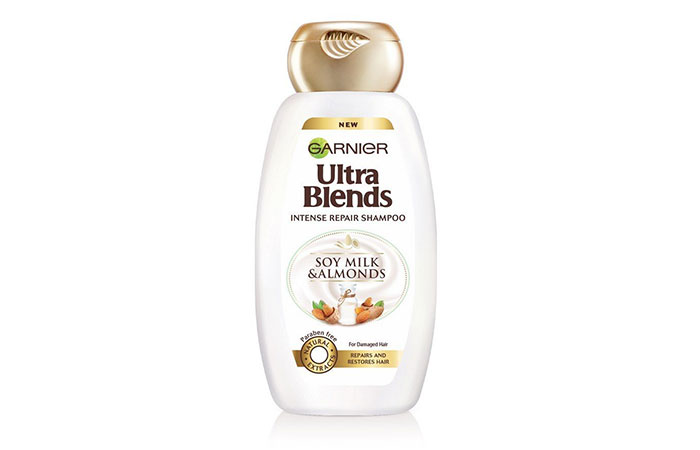 6. Garnier Ultra Blends Soy Milk And Almonds Shampoo