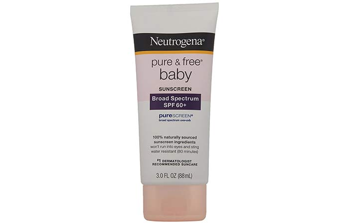 Safe Skin Care Products For Pregnant Women - Neutrogena Pure and Free Baby Sunscreen