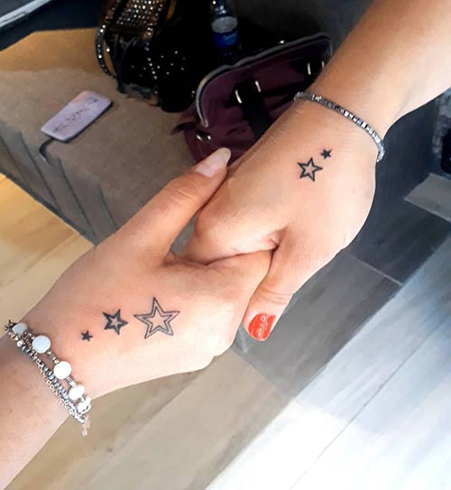 Star Tattoo For The Hand