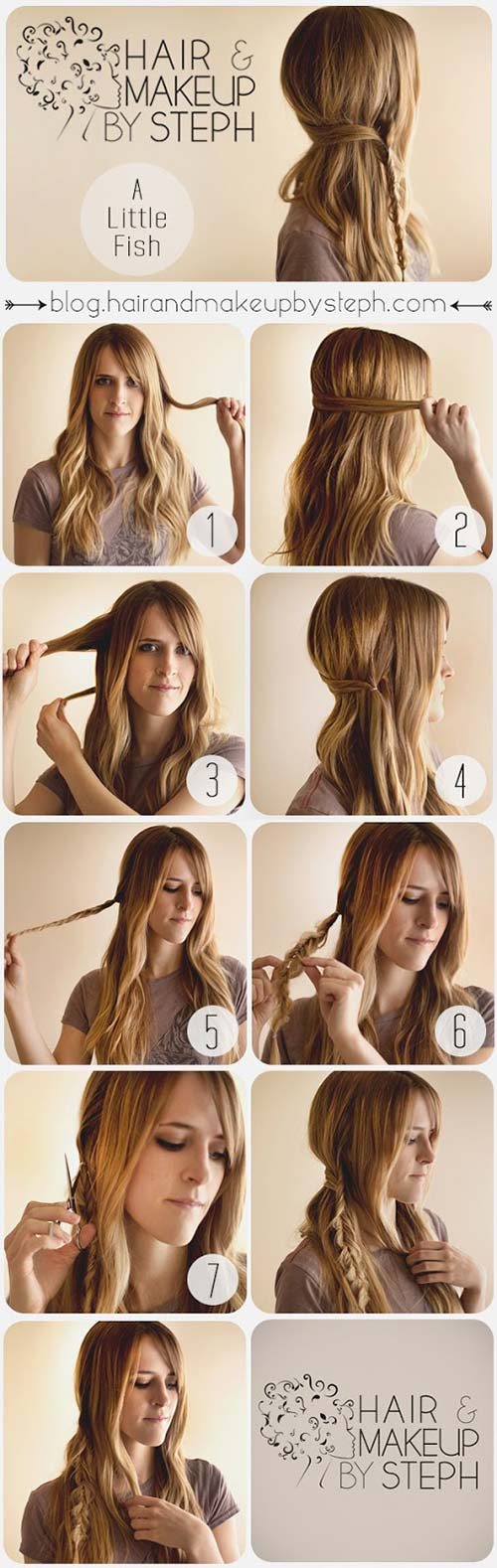 8. Asymmetrical Fishtail