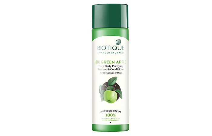 8. Bio Green Apple Fresh Daily Purifying Shampoo And Conditioner For Oily Scalp And Hair