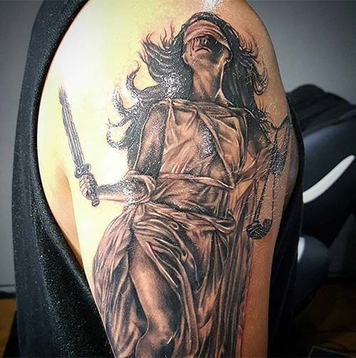 Angel Of Justice Tattoo