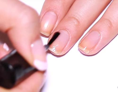 How To Do French Manicure - Apply A Base Coat