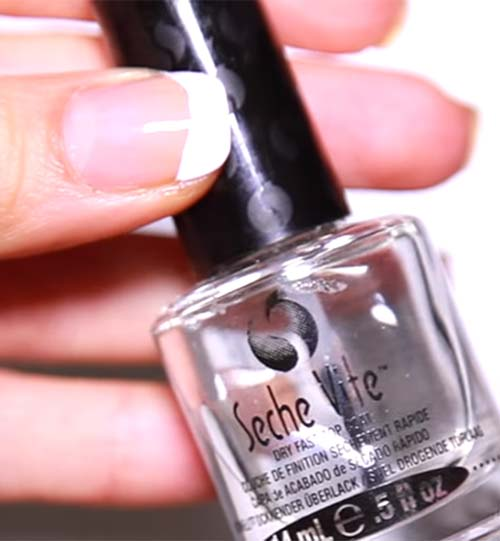 How To Do French Manicure - Apply A Top Coat
