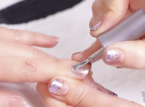 How To Do French Manicure - Apply The First Nail Color