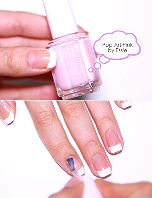How To Do French Manicure - Apply The Over-Top Nail Polish