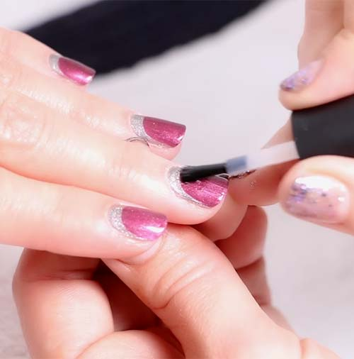 How To Do French Manicure - Apply Your Top Coat