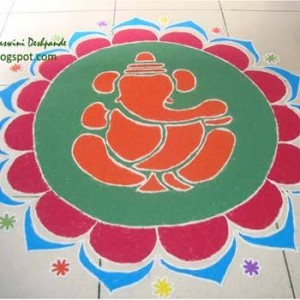 10 Best Ganesh Rangoli Designs That You Should Try In 2018