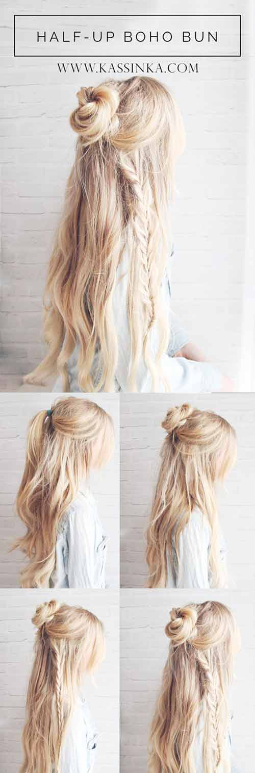 Boho Braids With Bun