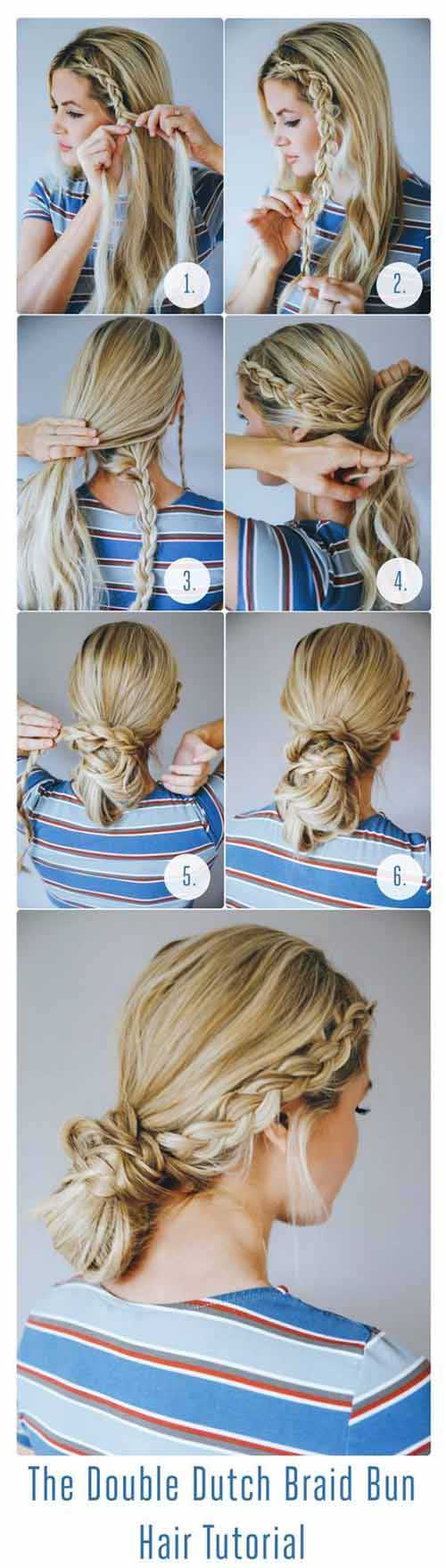 Double Dutch Bun Braid