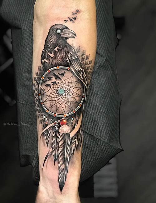 Dream Catcher Tattoo Design Meaning With Birds