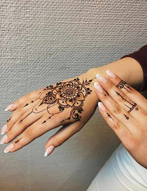 Henna Tattoos Design With Meaning On Hand