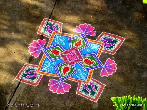 Kolam festivals rangoli