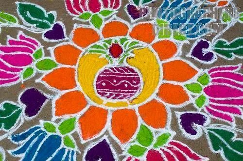 Laxmi Puja rangoli