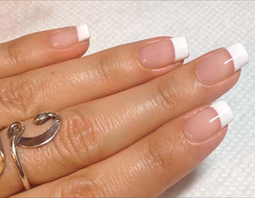 How To Do French Manicure - Look at how perfect this looks!