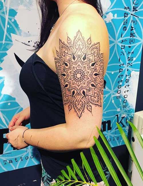 Mandala Arm Tattoo Design