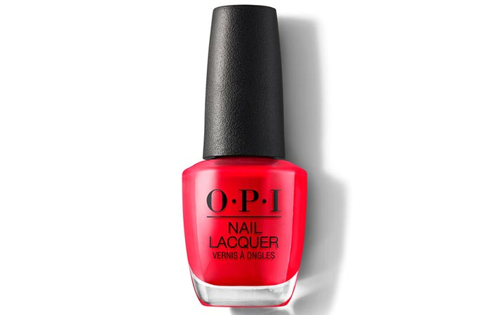 O.P.I Nail Lacquer in Coca Cola Red