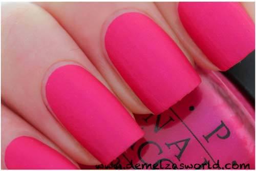Matte Nail Polish Hot Pink