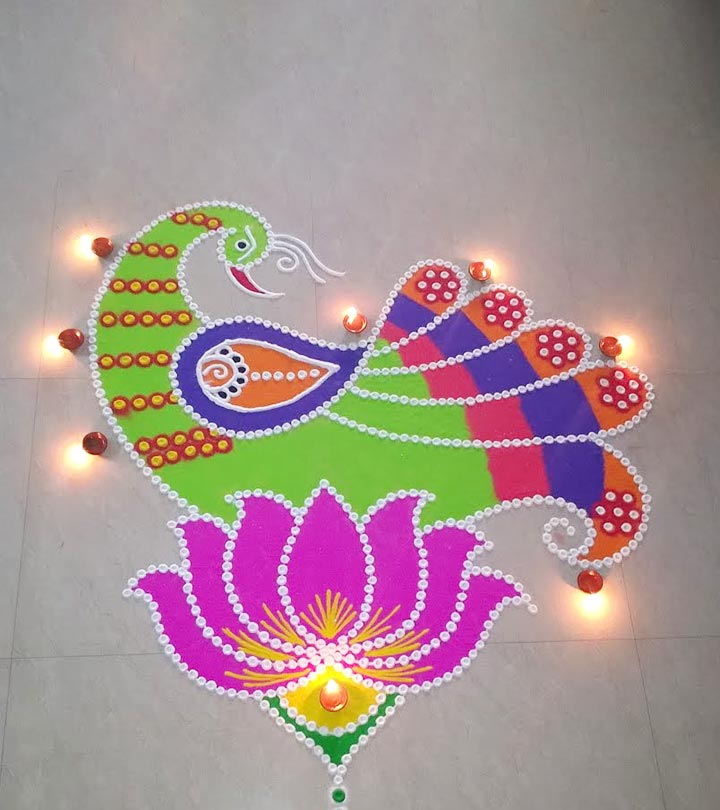 10 Admirable Peacock Rangoli Designs To Try In 2019