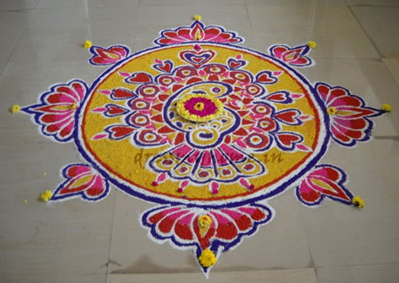 Peacocks rangoli