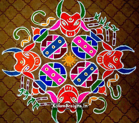 Rangoli design for the festival of Kolam