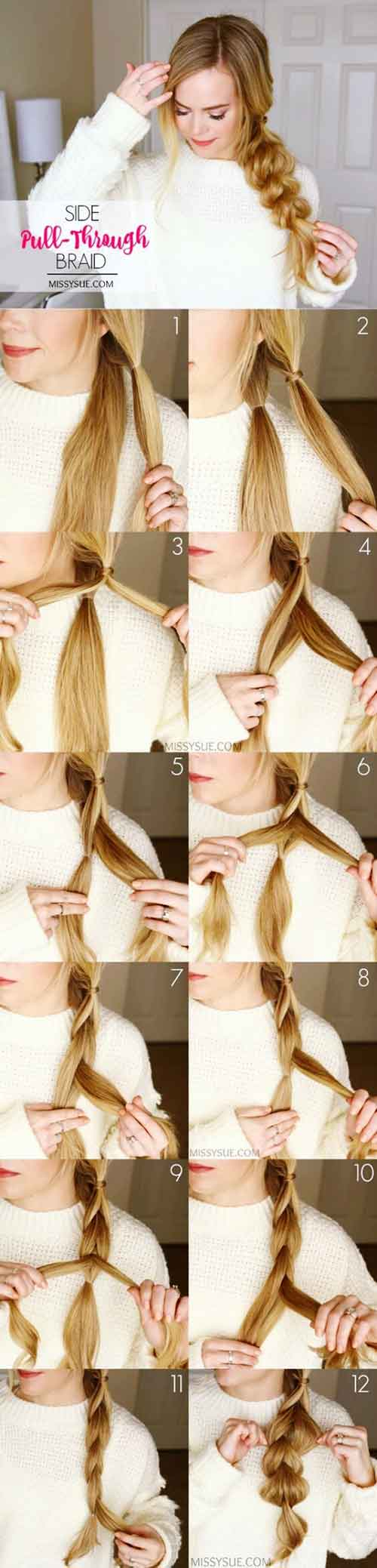 Redefined Side Pull-Through Braid