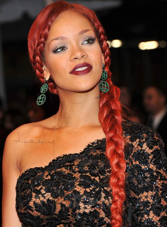 Rihannas-Red-Braid