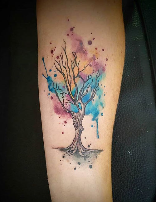 Romantic Tree Tattoo Meaning On Forearm
