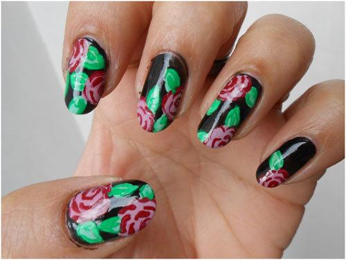 Roses-Nail-Art-11