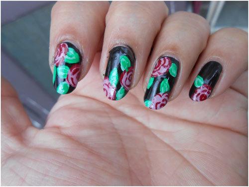 Roses-Nail-Art-12