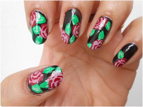Roses-Nail-Art-8