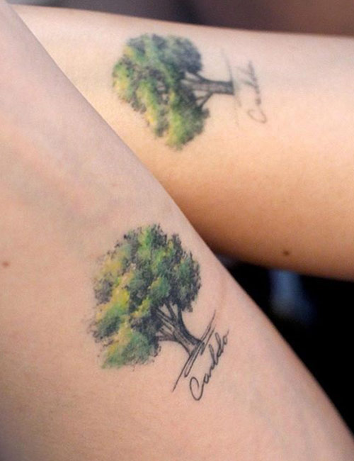 Small Nature Tree Tattoos