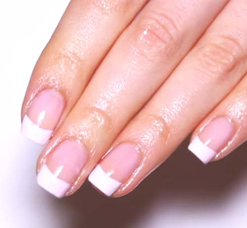 How To Do French Manicure - This is how your manicure will eventually look! Isn't that gorgeous